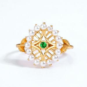 Art Deco Vintage Pearl Engagement Ring Antique